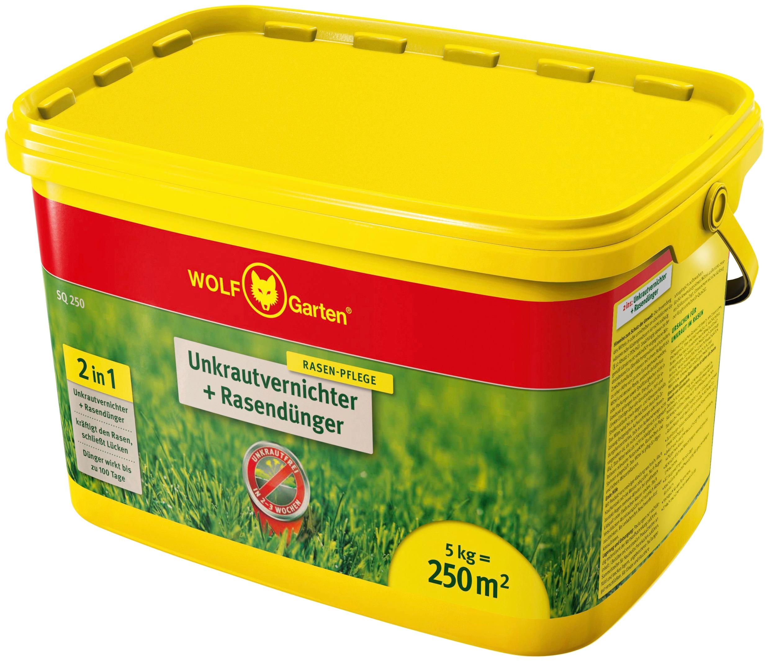 WOLF-Garten Rasendünger SQ 250 mit Unkrautvernichter, 5 kg mehrfarbig Zubehör Pflanzen Garten Balkon