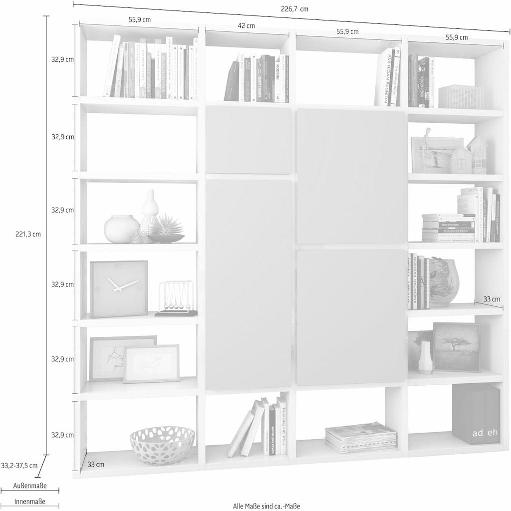 fif möbel Raumteilerregal »TOR511-1«, Breite 227 cm
