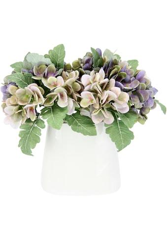 I.GE.A. Kunstblume »Hortensienbusch«, In Keramikvase kaufen
