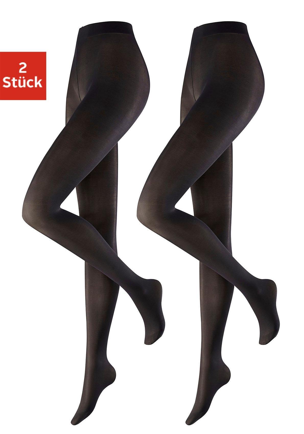 Hudson Feinstrumpfhose, 40 DEN, (2 St.), in DEN mit extrakomfortablem Bund schwarz Damen Feinstrumpfhosen Strumpfhosen Damenwäsche Feinstrumpfhose