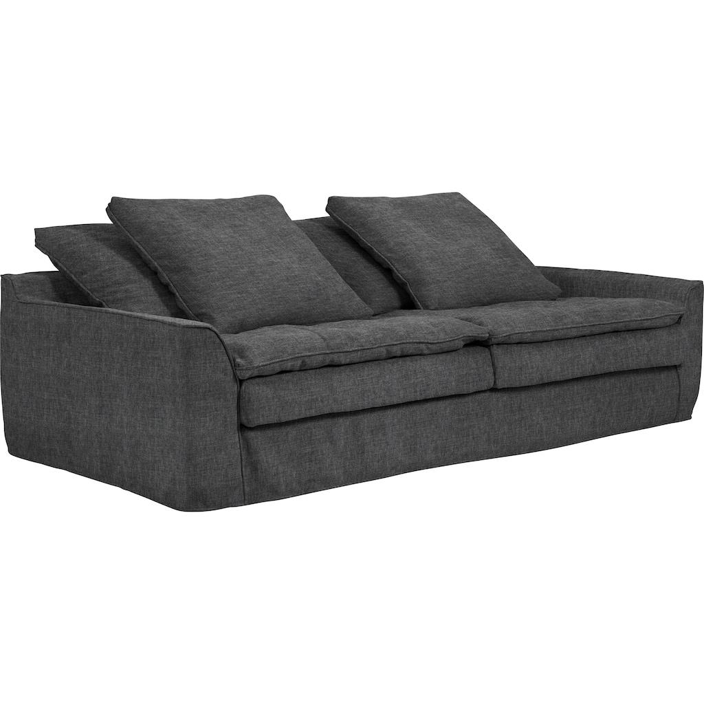 furninova Big-Sofa »Sake«, inklusive 4 Kissen, abnehmbarer und waschbarer Hussenbezug, Kissen mit Federn gefüllt, Memoryschaum, im skandinavischen Design