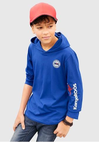 KangaROOS Kapuzenshirt »mit Ärmeldruck« kaufen