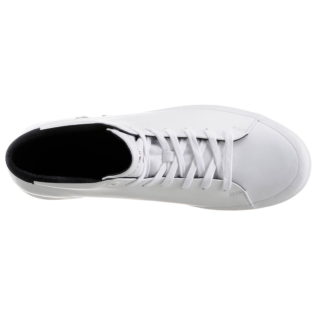 Tommy Hilfiger Sneaker »PREMIUM HIGH CORPORATE VULC«, mit Kontrastbesatz