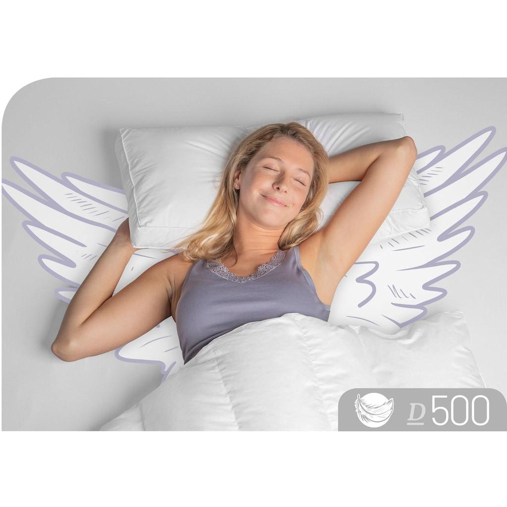 Schlafstil Nackenstützkissen »D500«, Füllung: 90% Daunen und 100% Federn im Kern, Bezug: 100% Baumwolle, (1 St.), hergestellt in Deutschland, allergikerfreundlich