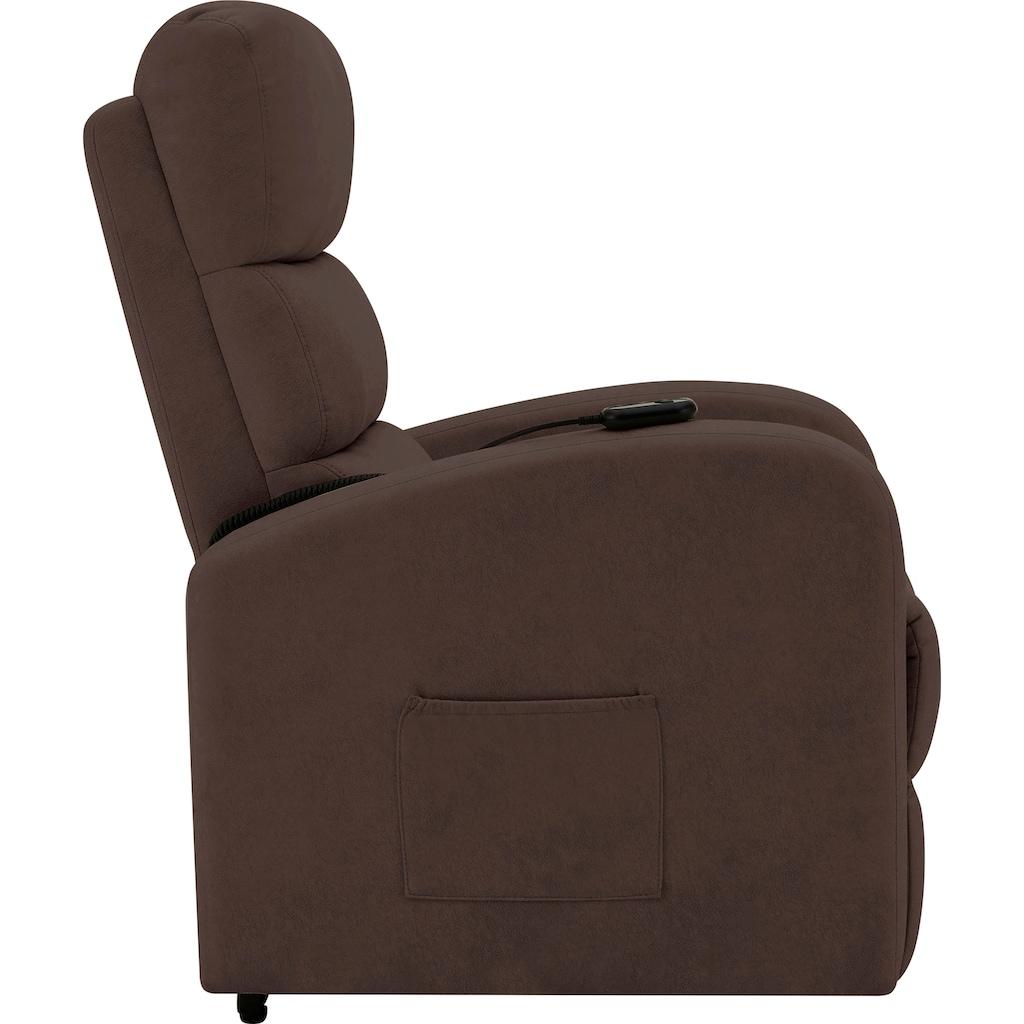 DELAVITA Relaxsessel »Isolde«, mit einer praktischen elektrischen Relaxfunktion, Sitz- und Liegeposition möglich, Aufstehhilfe, Sitzhöhe 47 cm