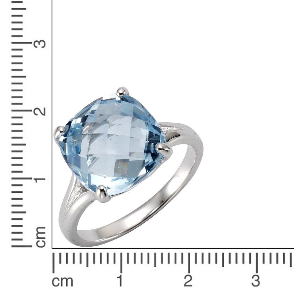 Zeeme Fingerring »925/- Sterling Silber rhodiniert Blautopas«, Ring