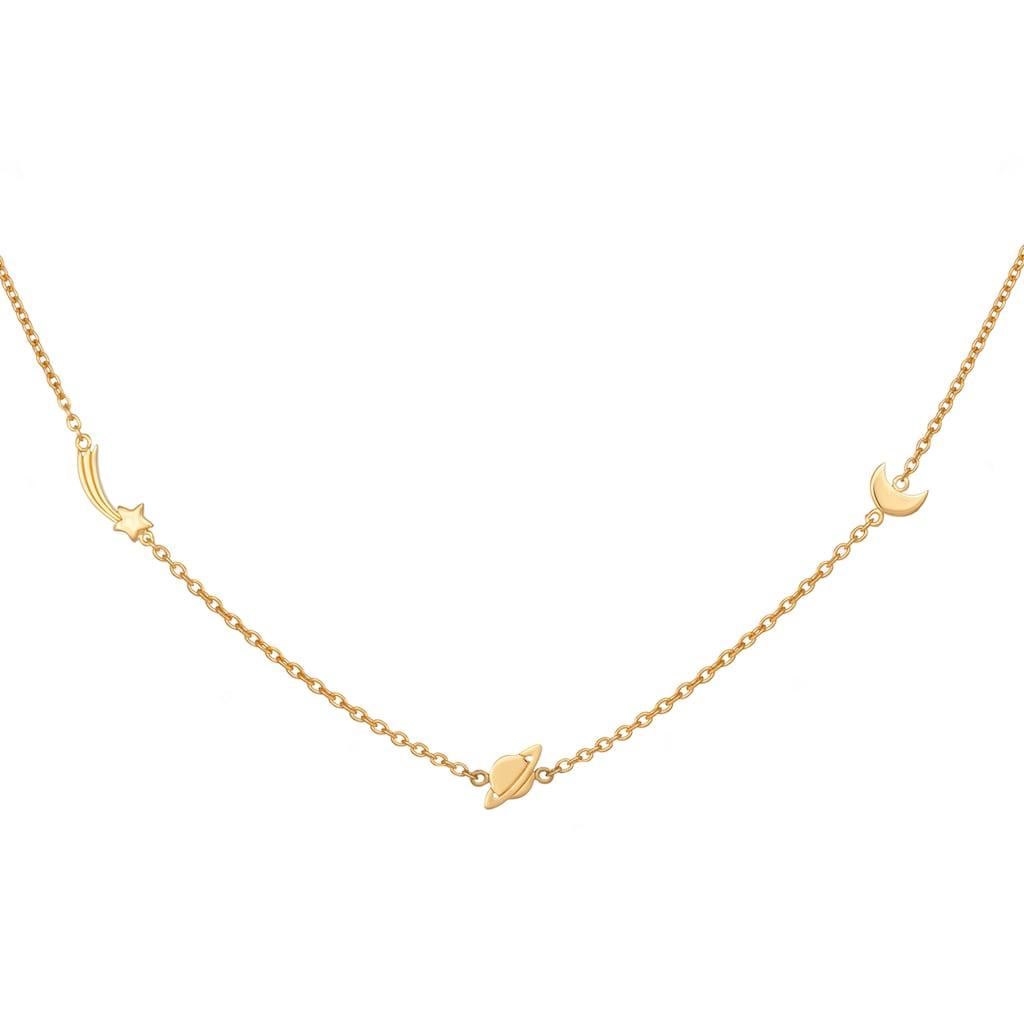CAÏ Kette mit Anhänger »925/- Sterling Silber vergoldet Sternschnuppe - Sa«