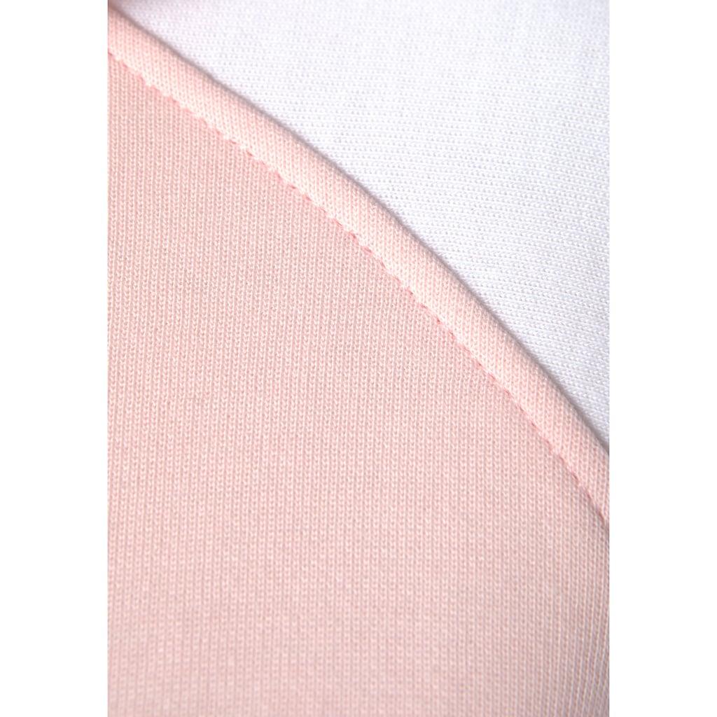 Bench. Kapuzensweatjacke, mit farblich abgesetzten Ärmeln