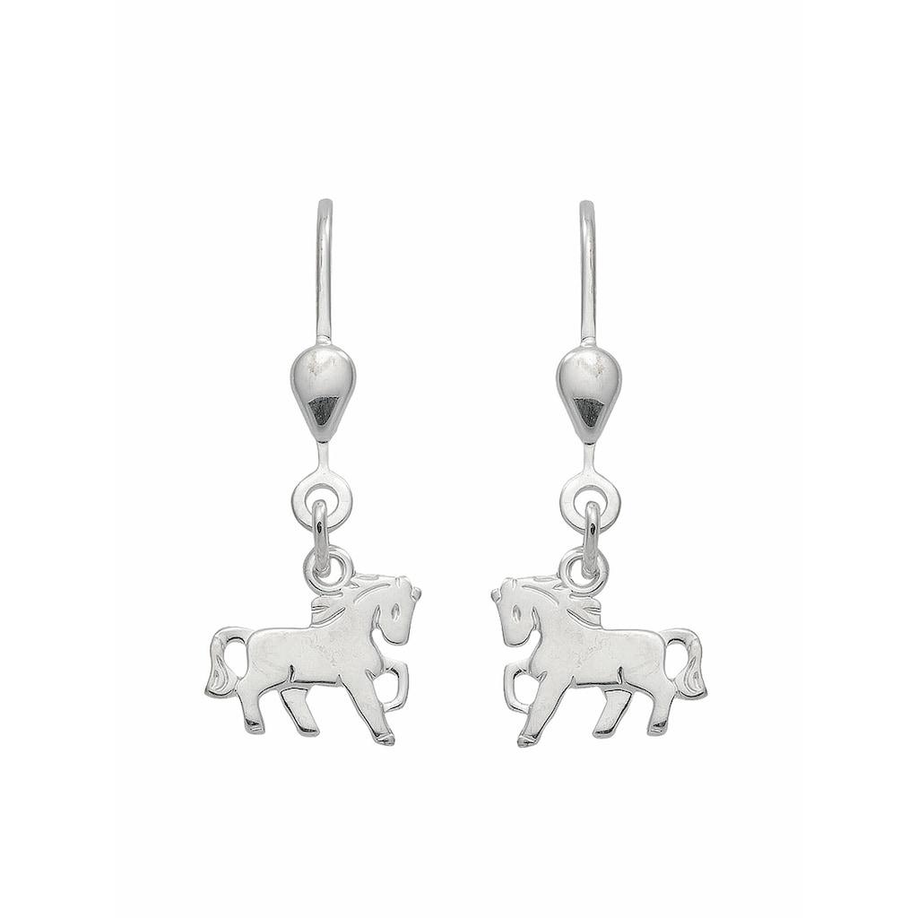 Adelia´s Paar Ohrhänger »925 Silber Ohrringe / Ohrhänger Pferd«, Silberschmuck für Damen