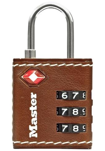 MASTER LOCK Vorhängeschloss Zahlenschloss TSA Gepäckschloss, 32 mm mit brauen Leder kaufen