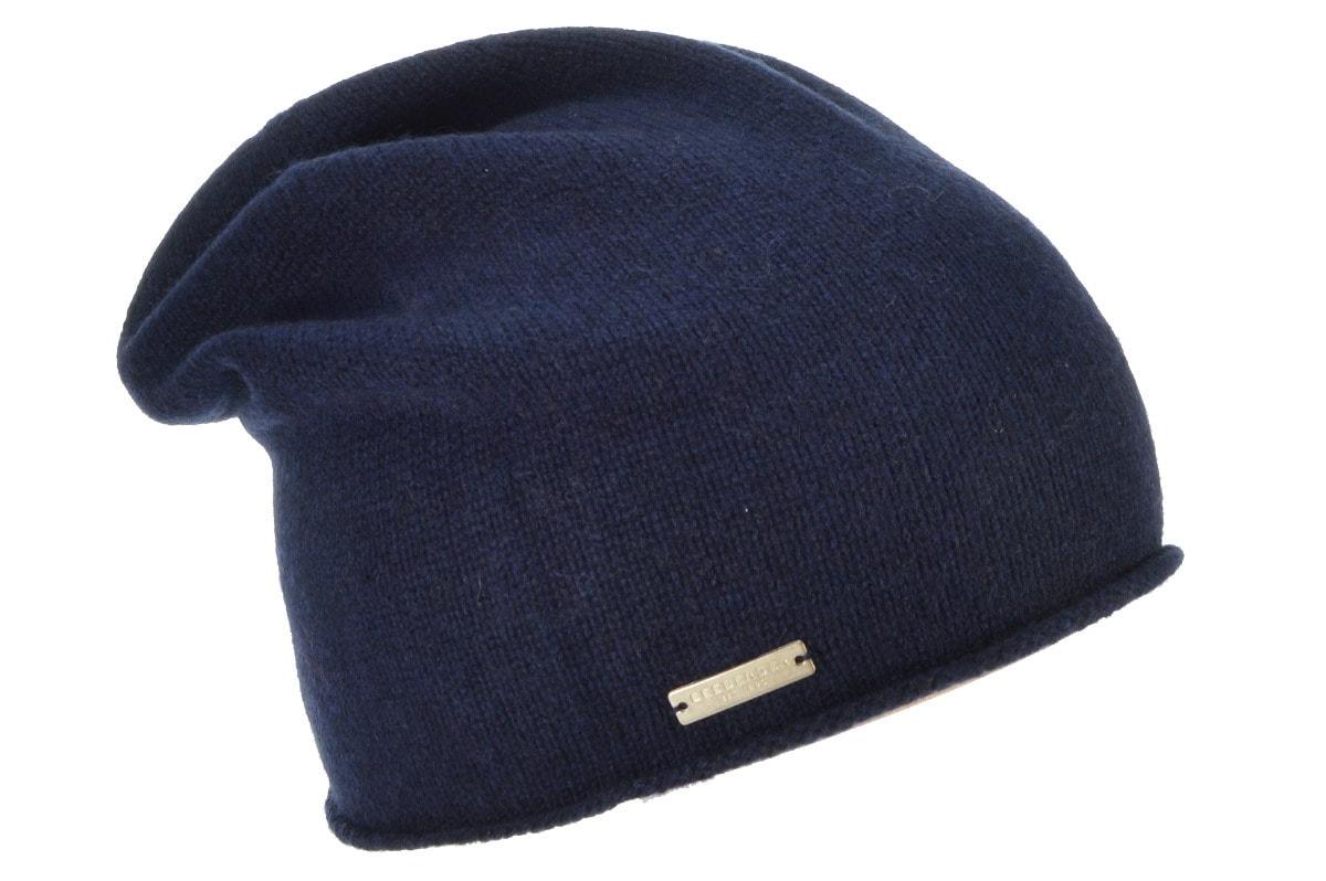 seeberger -  Strickmütze lässige Mütze mit Rollkante in 100% Cashmere 16700-0