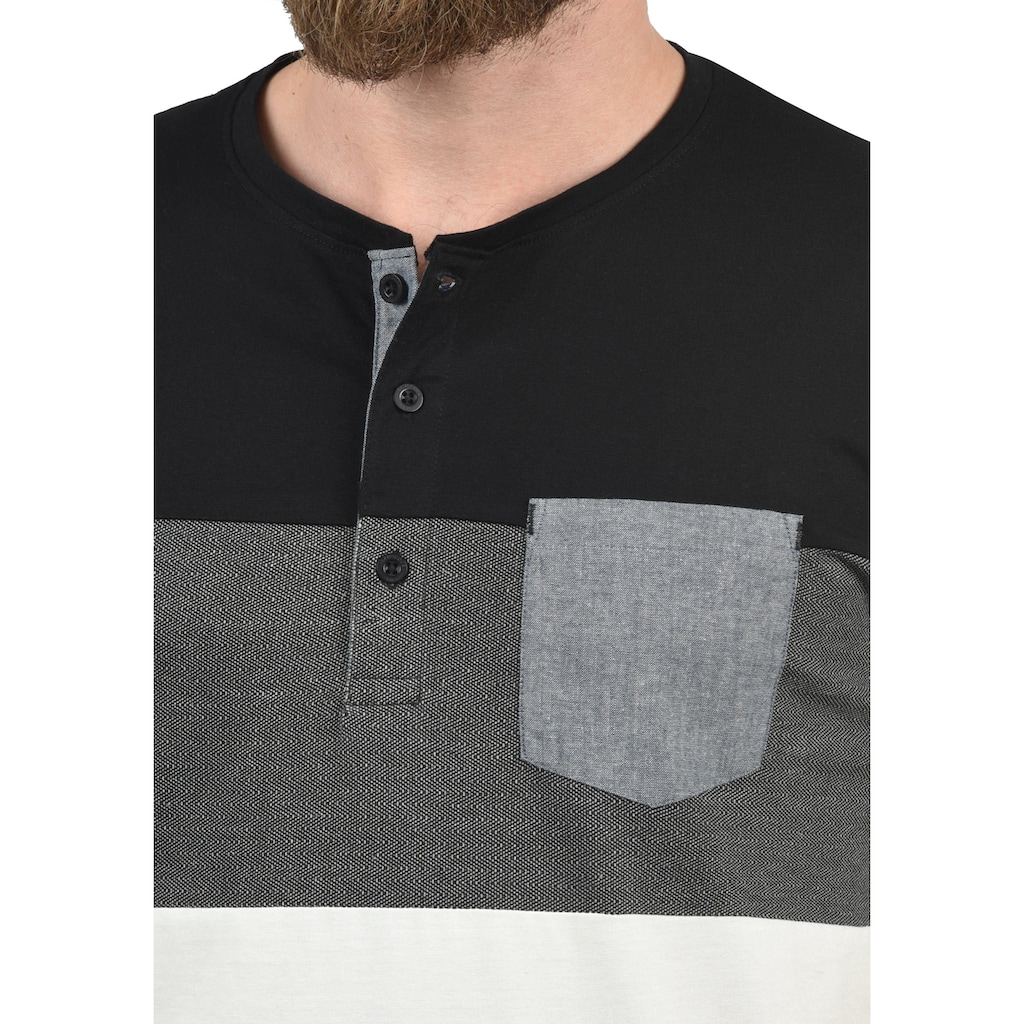 Indicode Rundhalsshirt »Albert«, Kurzarmshirt mit Brusttasche