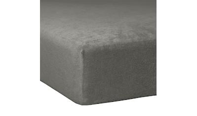 TRAUMSCHLAF Spannbettlaken »Flausch Frottee«, flauschig weich, elastisch und anschmiegsam kaufen