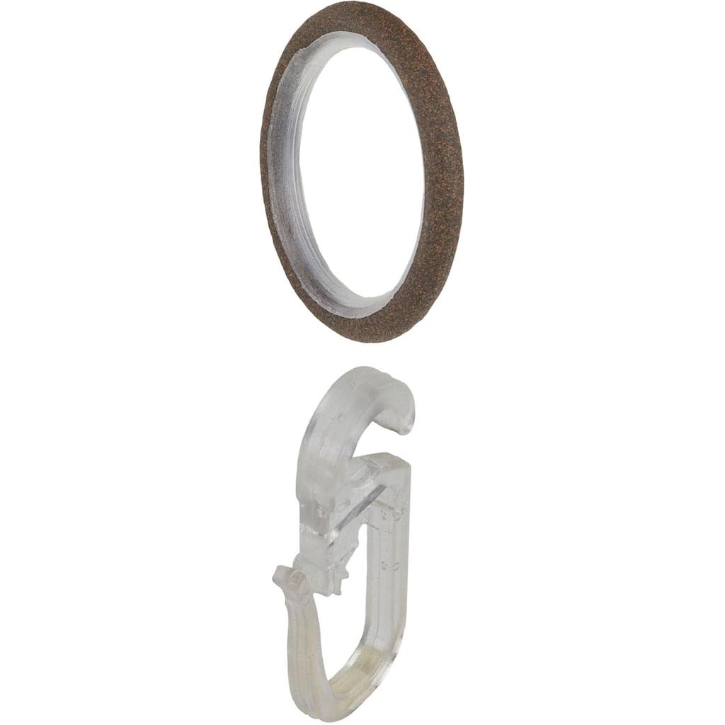 """Liedeco Gardinenring »Gardinenring, Stilring, Ringe für Gardinenrohre 16 mm """"Esperanca""""«, Gardinenring mit Faltenlegehaken"""