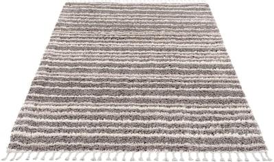 Carpet City Hochflor-Teppich »Pulpy 520«, rechteckig, 30 mm Höhe, mit Fransen, Wohnzimmer kaufen