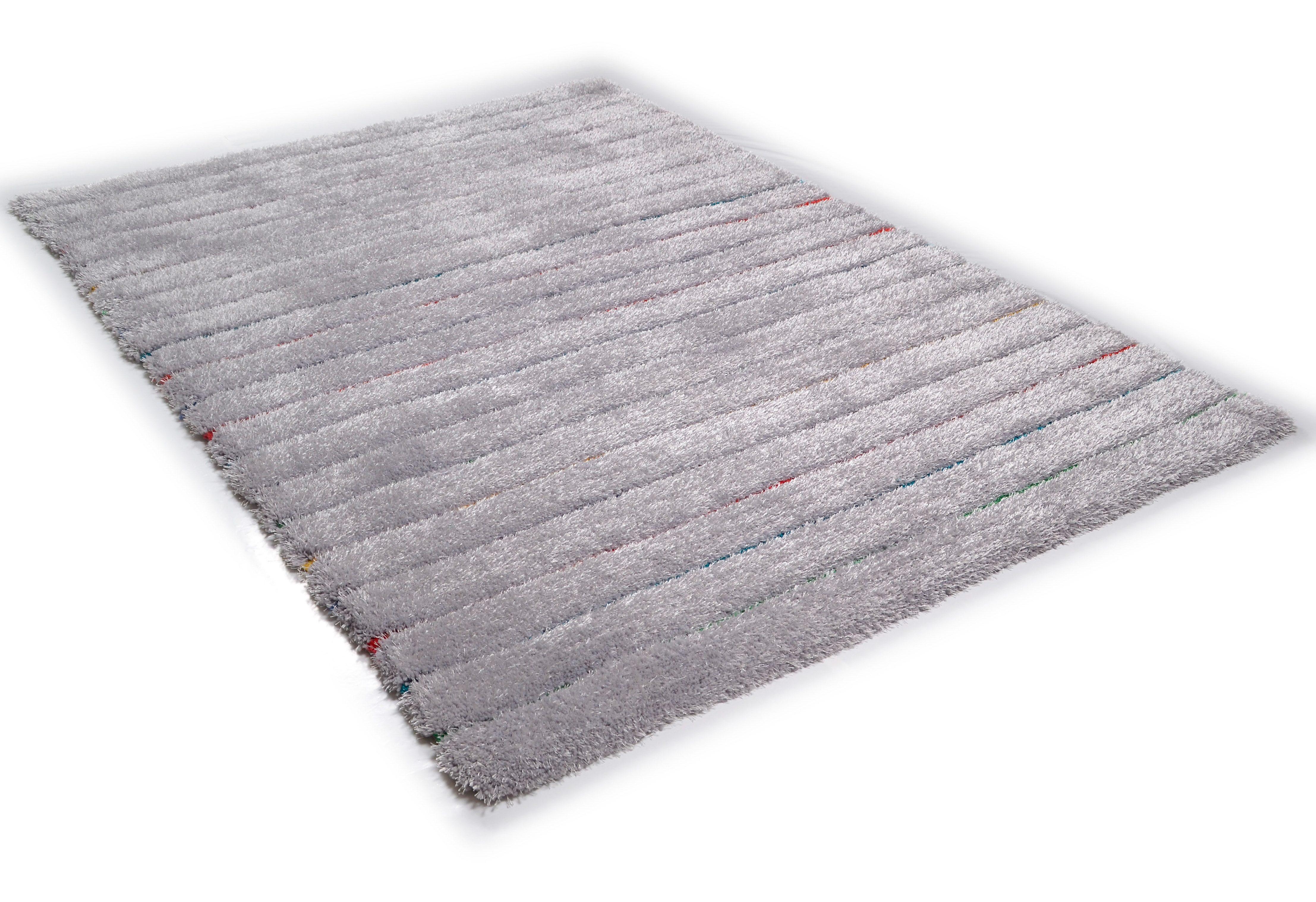 Hochflor-Teppich Soft Hidden Stripes TOM TAILOR rechteckig Höhe 35 mm handgetuftet