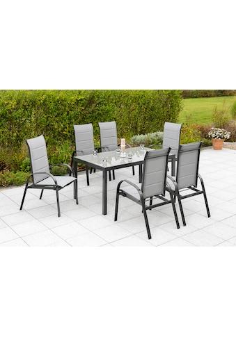 MERXX Gartenmöbelset »Marini«, (7 tlg.), 6 Klappsessel mit Tisch kaufen