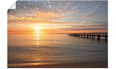 Artland Wandbild »Früh morgens an der Ostsee«, Bilder vom Sonnenuntergang & -aufgang,... kaufen
