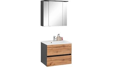 HELD MÖBEL Badmöbel-Set »Lucca«, (2 St.), Breite 60 cm, mit LED-Spiegelschrank kaufen