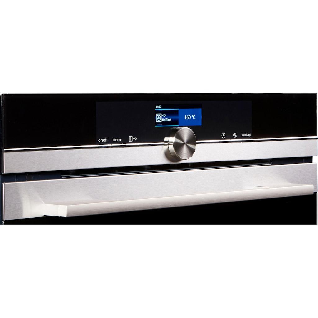 SIEMENS Pyrolyse Backofen »HM676G0S6«, iQ700, HM676G0S6, mit 1-fach-Teleskopauszug, Aqua-Reinigungsfunktion, mit 4D-Heißluft