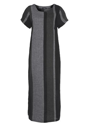 SAMMER Berlin Sommerkleid, Leinenkleid mit unterschiedlich breiten Streifen kaufen
