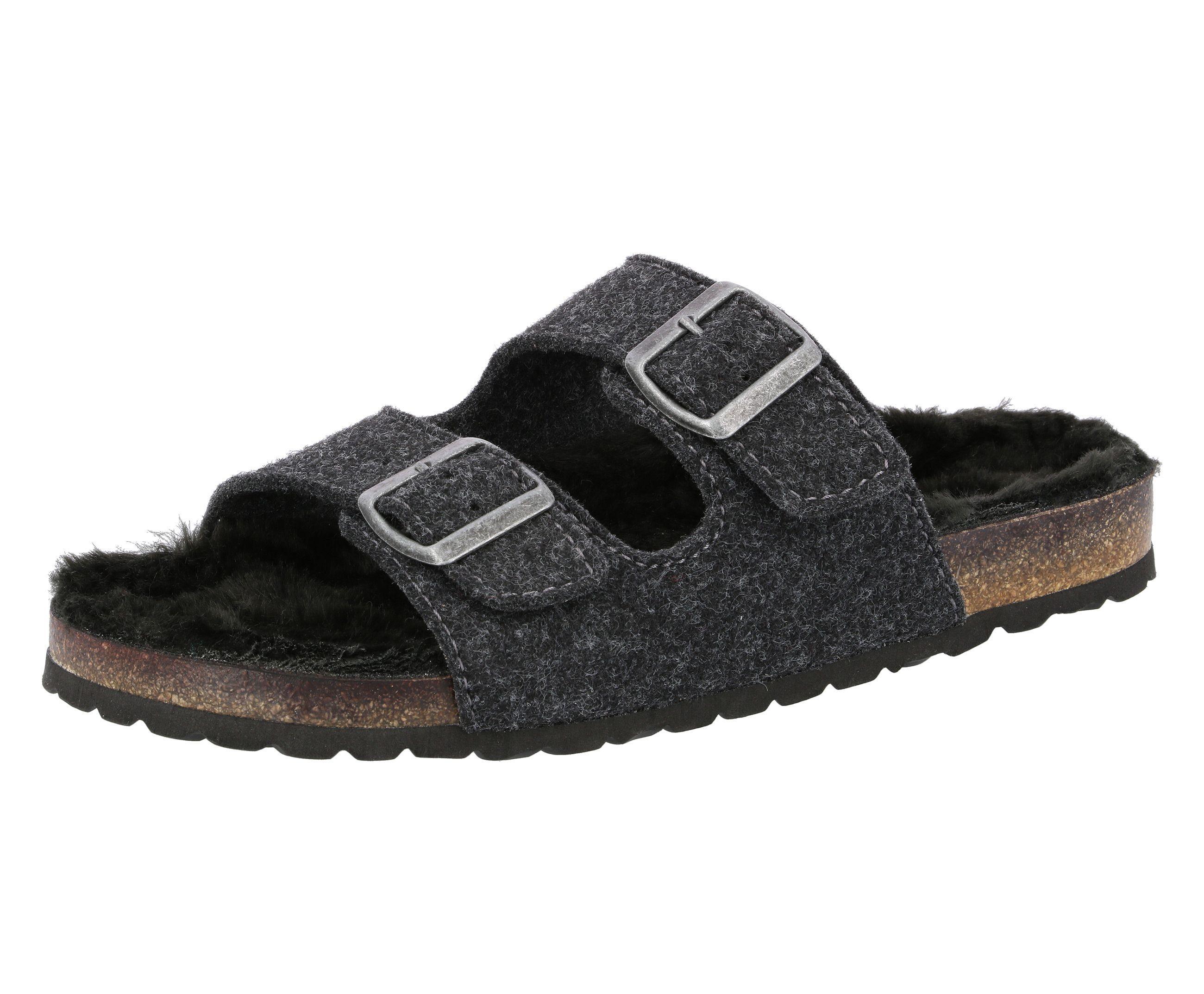 Lico Hausschuh Pantolette Bioline Hot | Schuhe > Clogs & Pantoletten > Pantoletten | Grau | Lico
