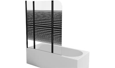 Marwell Badewannenfaltwand »BLACK LINES«, mit Sichtschutz, Breite: 125 cm kaufen