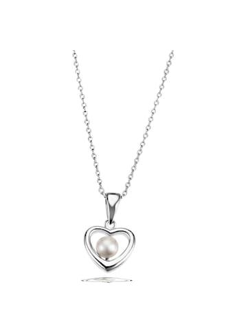goldmaid Collier Halskette mit Herzanhänger 925 SterlingsilberZuchtperle kaufen