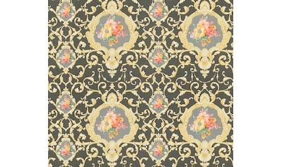 living walls Vliestapete »Château 5 barock«, floral-ornamental-gemustert-mehrfarbig, glatt kaufen