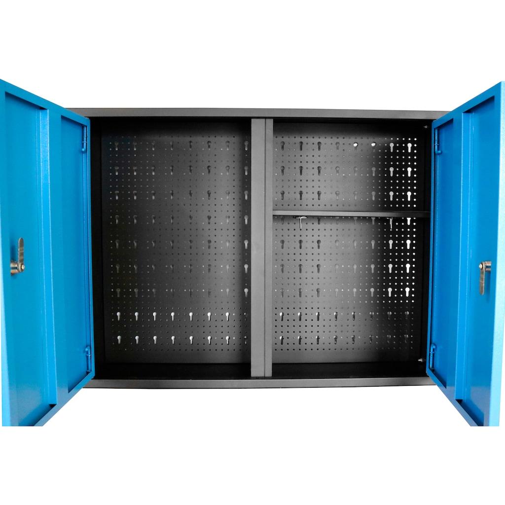 Güde Hängeschrank, B/T/H: 120x20x60 cm, 3 Türen, abschließbar, für Werkstatt GWS 3T