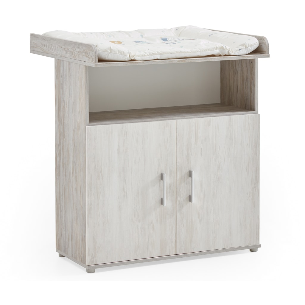 arthur berndt Babyzimmer-Komplettset »Isabella«, (Set, 3 St.), Made in Germany; mit Kinderbett, Schrank und Wickelkommode