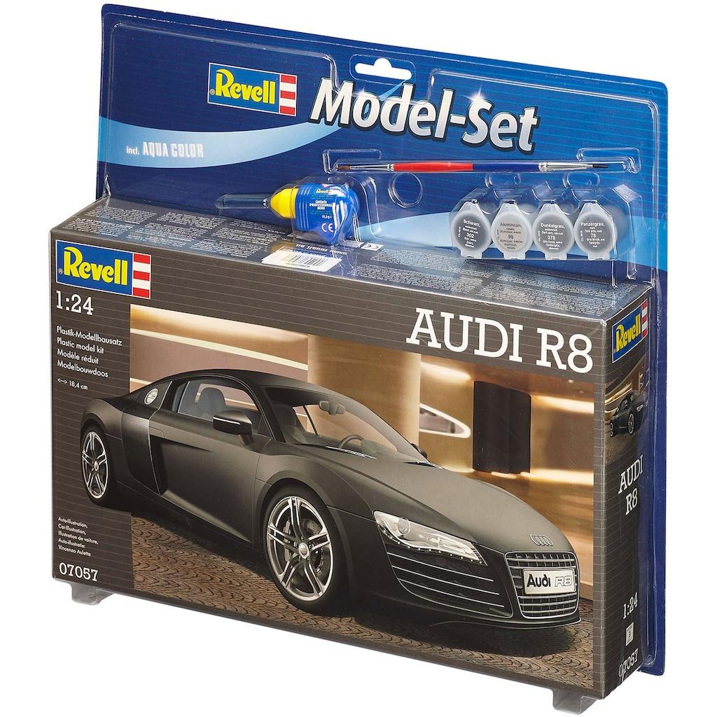 Revell® Modellbausatz »Model Set, Audi R8«, (Set), 1:24, Made in Europe
