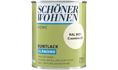 SCHÖNER WOHNEN FARBE Lack »Home Buntlack«, glänzend, 750 ml, cremeweiß RAL 9001 kaufen