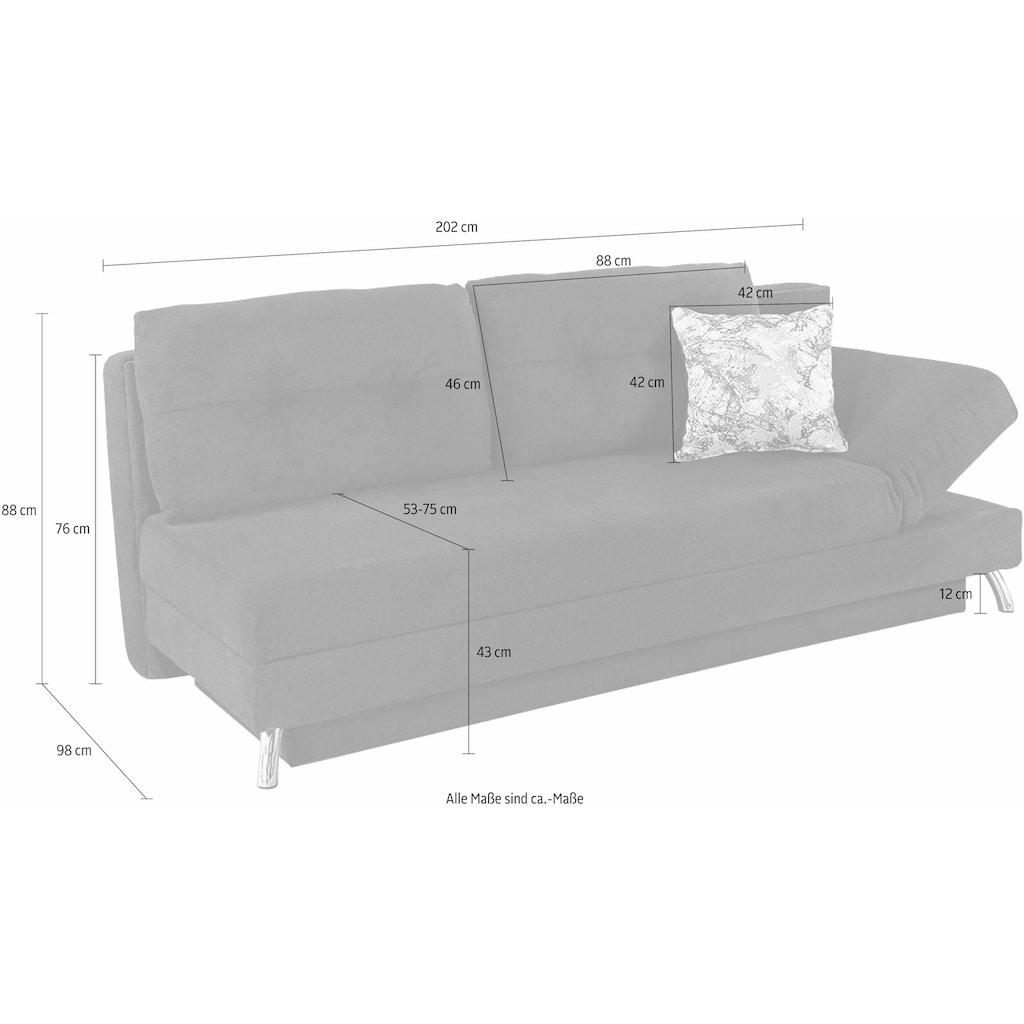 Jockenhöfer Gruppe Schlafsofa, mit verstellbarem Arm- oder Kopfteilelement,das Verwandlungswunder
