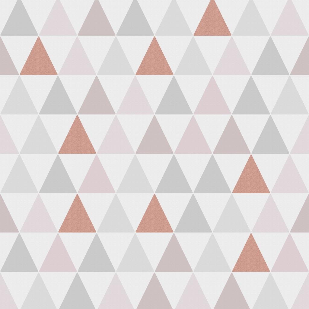 Superfresco Easy Vliestapete »Tarek Rose Gold«, geometrisch