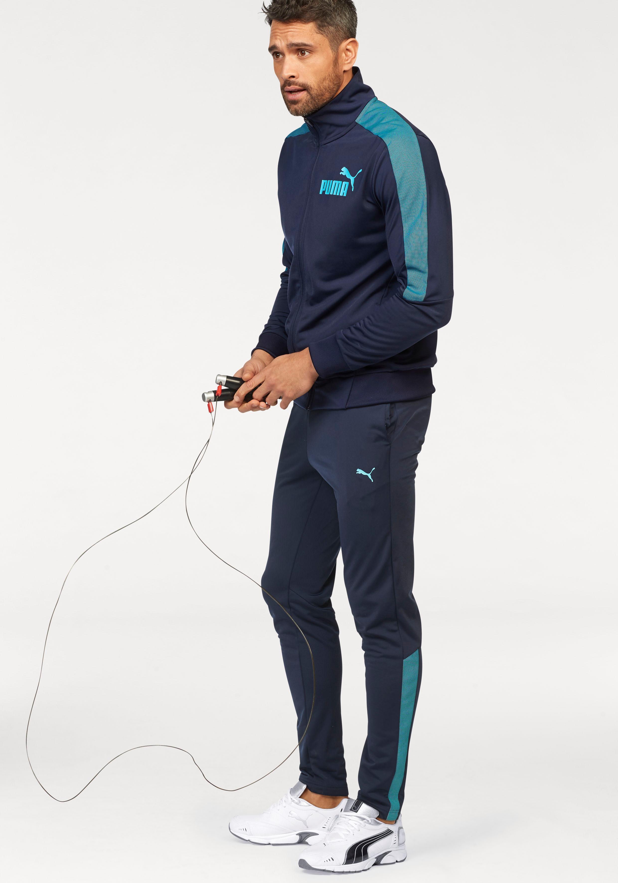 PUMA Trainingsanzug »TRICOT SUIT« (Set, 2 tlg.) | Sportbekleidung > Sportanzüge > Trainingsanzüge | Blau | Puma