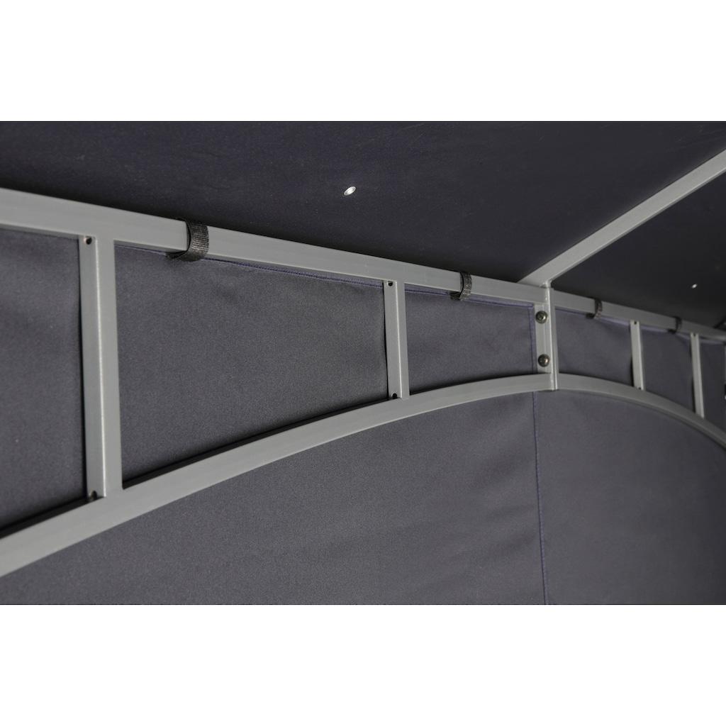 Tepro Pavillonseitenteile, (Set bestehend aus 1 Seitenteil geschlossen, 1 Seitenteil mit 2 Fenstern), passend für Pavillon Lehua und Waya