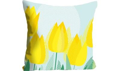 queence Kissenhülle »Rebekka«, (1 St.), mit gelben Tulpen kaufen