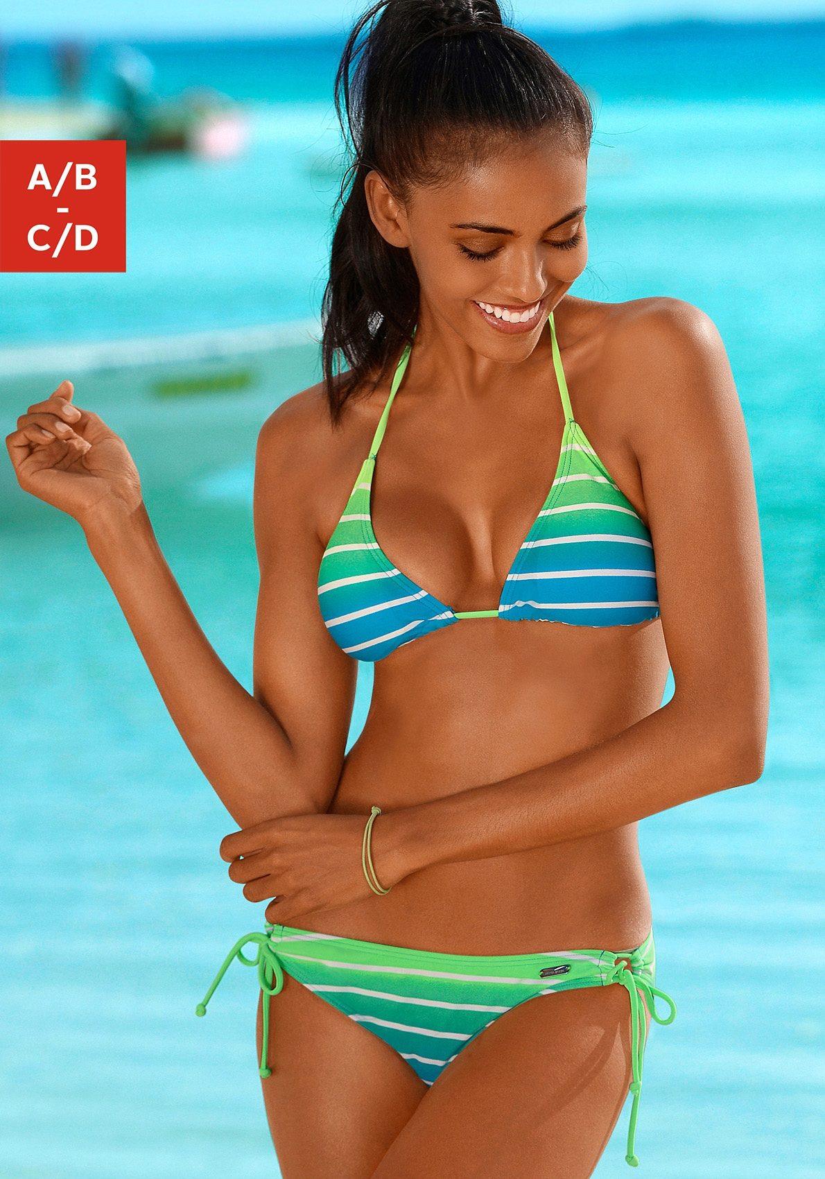 venice beach triangel bikini in neonfarben damenmode suchmaschine. Black Bedroom Furniture Sets. Home Design Ideas