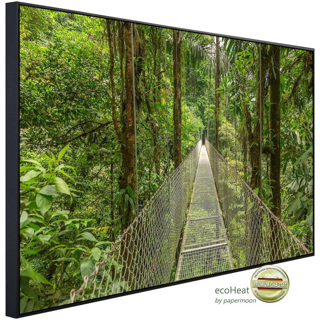 Papermoon Infrarotheizung »Hängebrücke durch Wald«, sehr angenehme Strahlungswärme