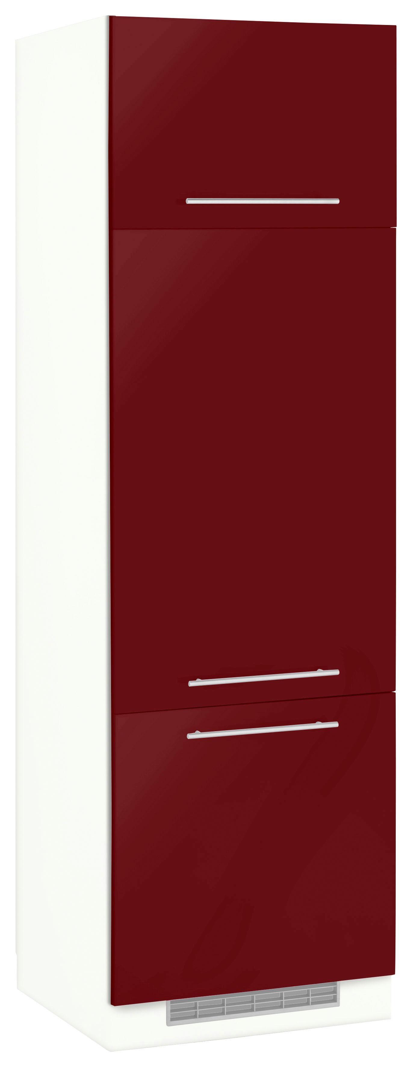 WIHO-Küchen Kühlumbauschrank Flexi2 | Küche und Esszimmer > Küchenschränke > Umbauschränke | Rot | Melamin | Wiho Küchen