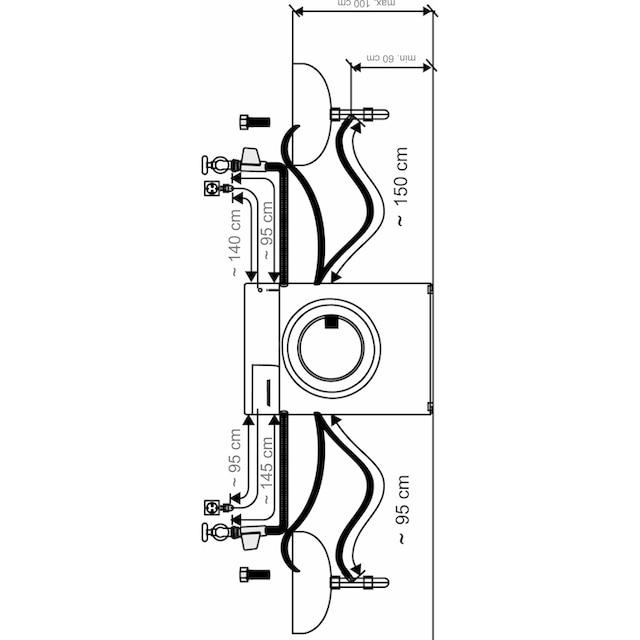 Hanseatic Waschtrockner 7 kg / 5 kg, 1200 U/Min