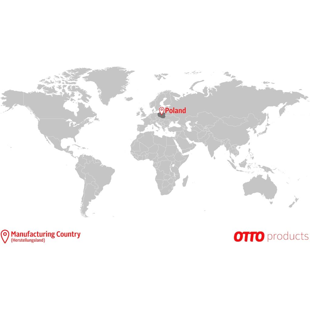 OTTO products Kopfkissen »Johanna«, Füllung: Faserbällchen, Bezug: Baumwolle & Polyester, (1 St.), optimal Stützkraft für den Nacken- und Kopfbereich