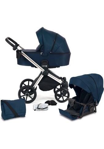 Knorrbaby Kombi-Kinderwagen »Life+ 2.0 Silver Edition, Marine-Blau«, 15 kg, Gestell... kaufen
