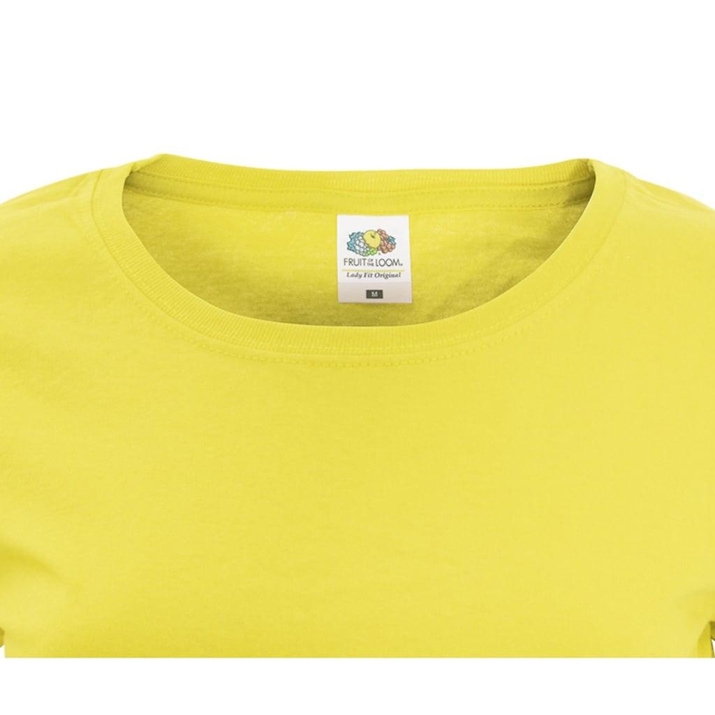 Fruit of the Loom T-Shirt »Damen Lady-Fit, kurzärmlig«