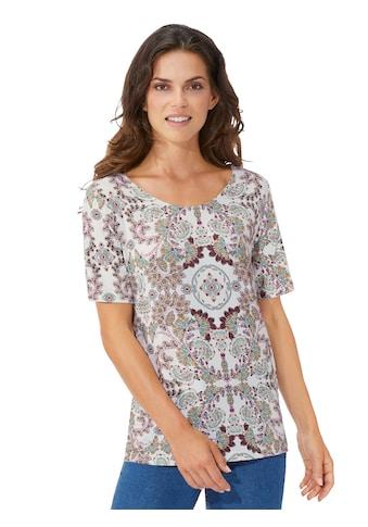 Fair Lady Shirt mit modischem Ornament - Print kaufen