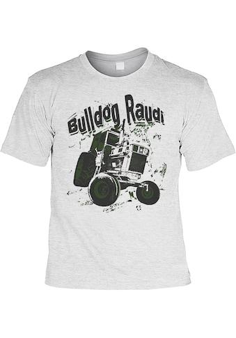 Der Trachtler Rundhalsshirt »Bulldog Raudi«, mit lustigem Print kaufen