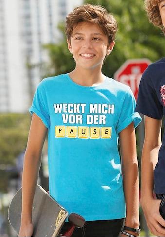 KIDSWORLD T-Shirt »WECK MICH VOR DER PAUSE« kaufen
