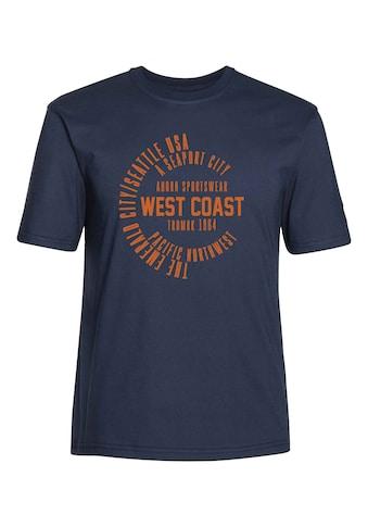 AHORN SPORTSWEAR T - Shirt mit großem Frontdruck »West Coast« kaufen