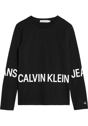 Calvin Klein Jeans Langarmshirt »STRETCH LOGO LS T - SHIRT« kaufen